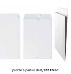 Busta Sacco 30x40 Bianco + Soffietti laterali