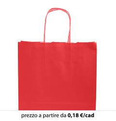 Shopper Carta - CHRISTMAS - Rosso 26x13x33