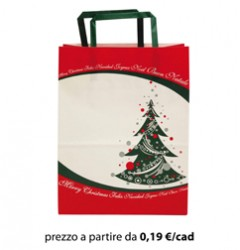 Shopper NATALE Carta 22X12X29