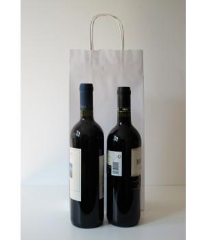 Shopper 2 bottiglie Carta