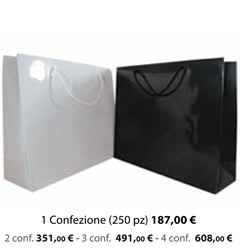 Shopper Carta Plastificata Lucida 20x7x18