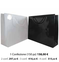 Shopper Carta Plastificata Lucida 32x10x27