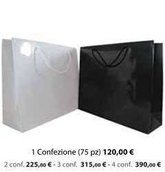Shopper Carta Plastificata Lucida 42x13x36