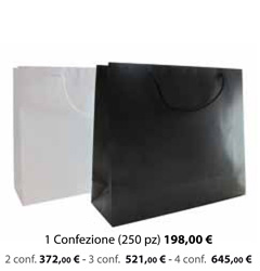 Shopper Carta Plastificata Opaca 20x7x18