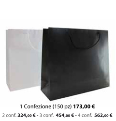 Shopper Carta Plastificata Opaca 32x10x27