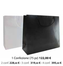 Shopper Carta Plastificata Opaca 42x13x36