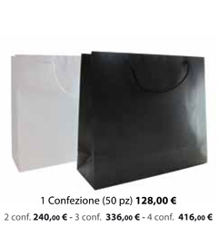 Shopper Carta Plastificata Opaca 54x13x45
