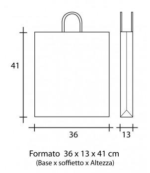 Shopper Carta 36X13x41 + GRAFICA