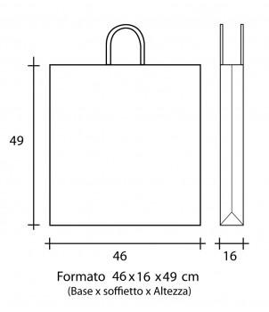Shopper Carta 46X16x49 + GRAFICA