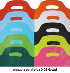 Shopper Plastica Colorati 25x35