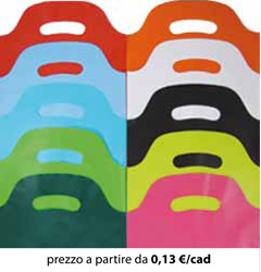Shopper Plastica Colorati 35x50
