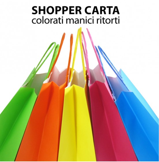 Shopper di carta colorati
