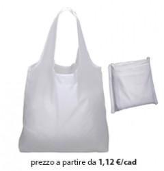 Shopper Ripiegabile Poliestere Bianco