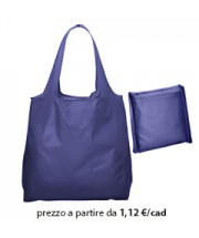 Shopper Ripiegabile Poliestere Blu