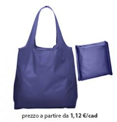 Shopper Ripiegabile Poliestere Blu