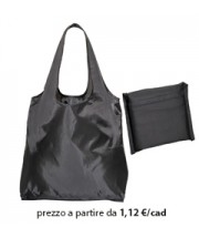 Shopper Ripiegabile Poliestere Nero
