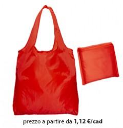 Shopper Ripiegabile Poliestere Rosso
