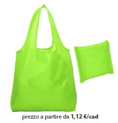 Shopper Ripiegabile Poliestere Verde Chiaro