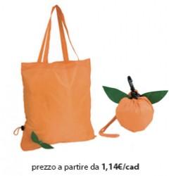 Shopper Ripiegabile Poliestere Arancione - Arancia