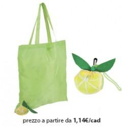 Shopper Ripiegabile Poliestere Verde Chiaro - Limone