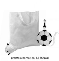 Shopper Ripiegabile Poliestere Bianco - Pallone